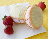 Strawberry Ice Cream Sandwiches